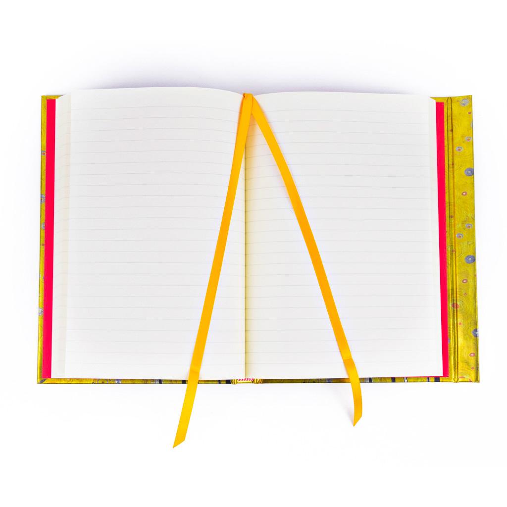 Zápisník A5, s magnetom, linajkový, 176 l. - Klimt: Bozk