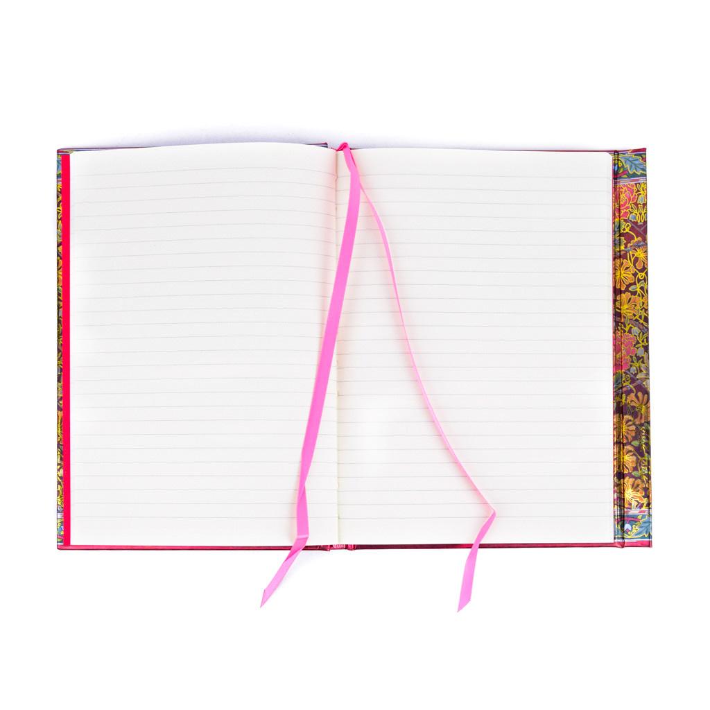 Zápisník A5, s magnetom, linajkový, 176 l.  - Lesley Ann Ivory: Kvety