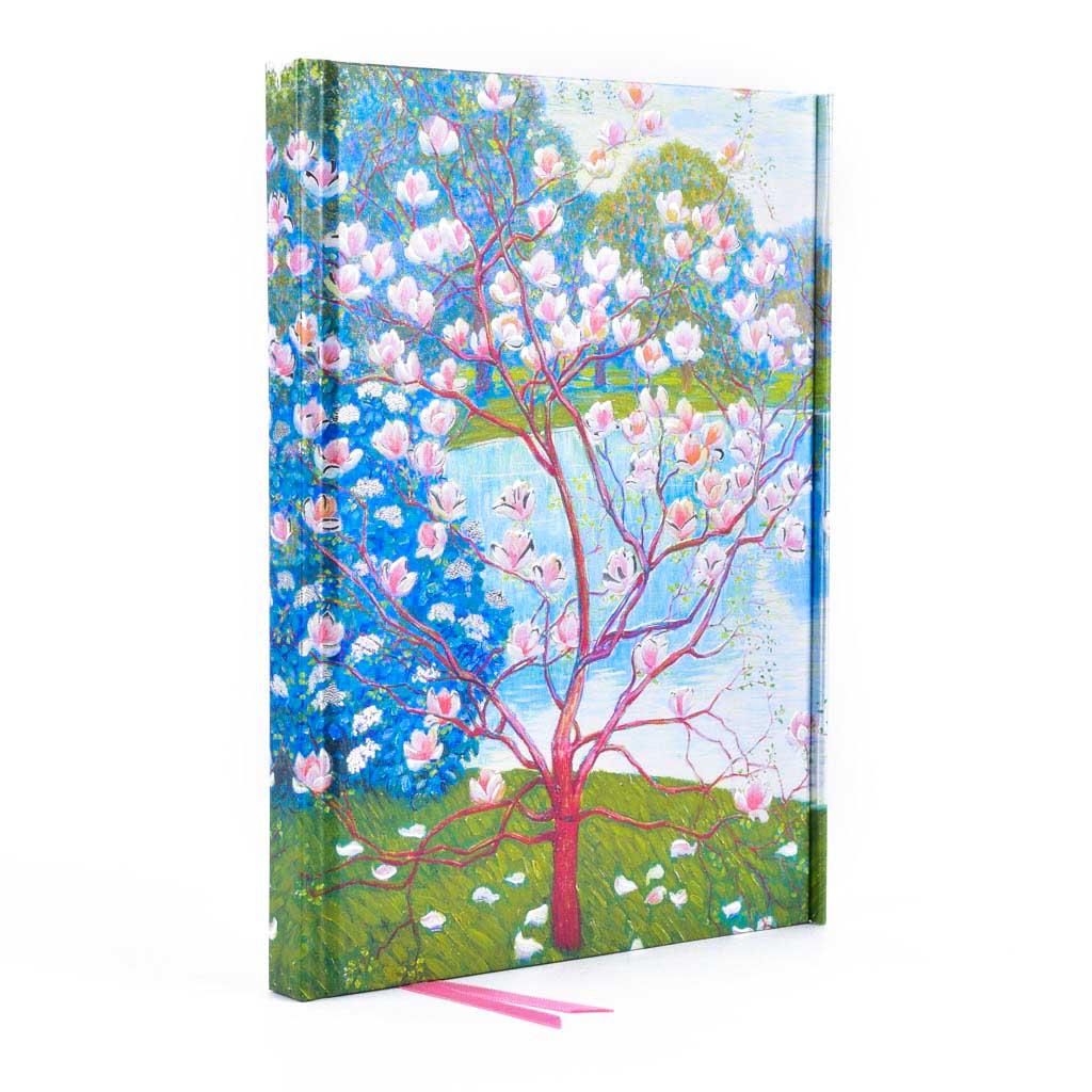 Zápisník A5, s magnetom, linajkový, 176 l. - Wilhelm List: Magnolia