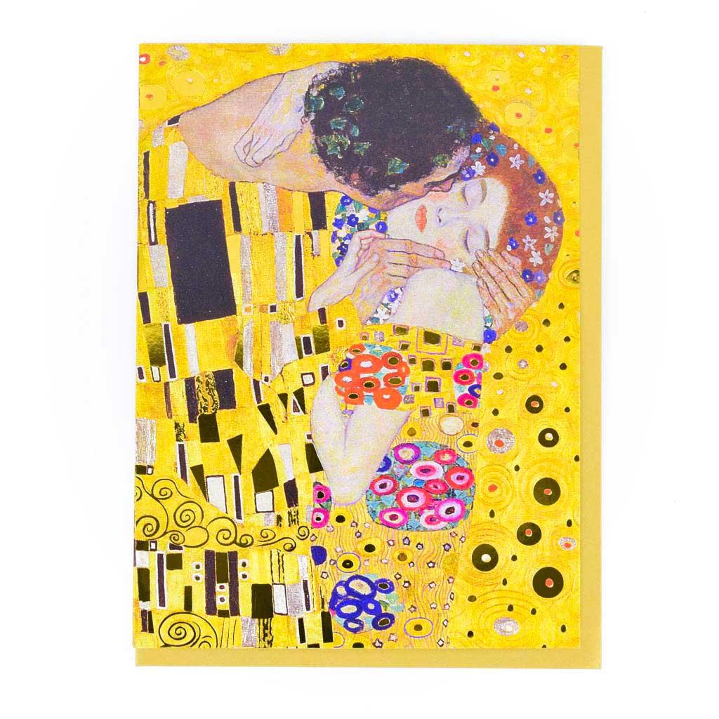 Blahoželanie - Klimt: Bozk