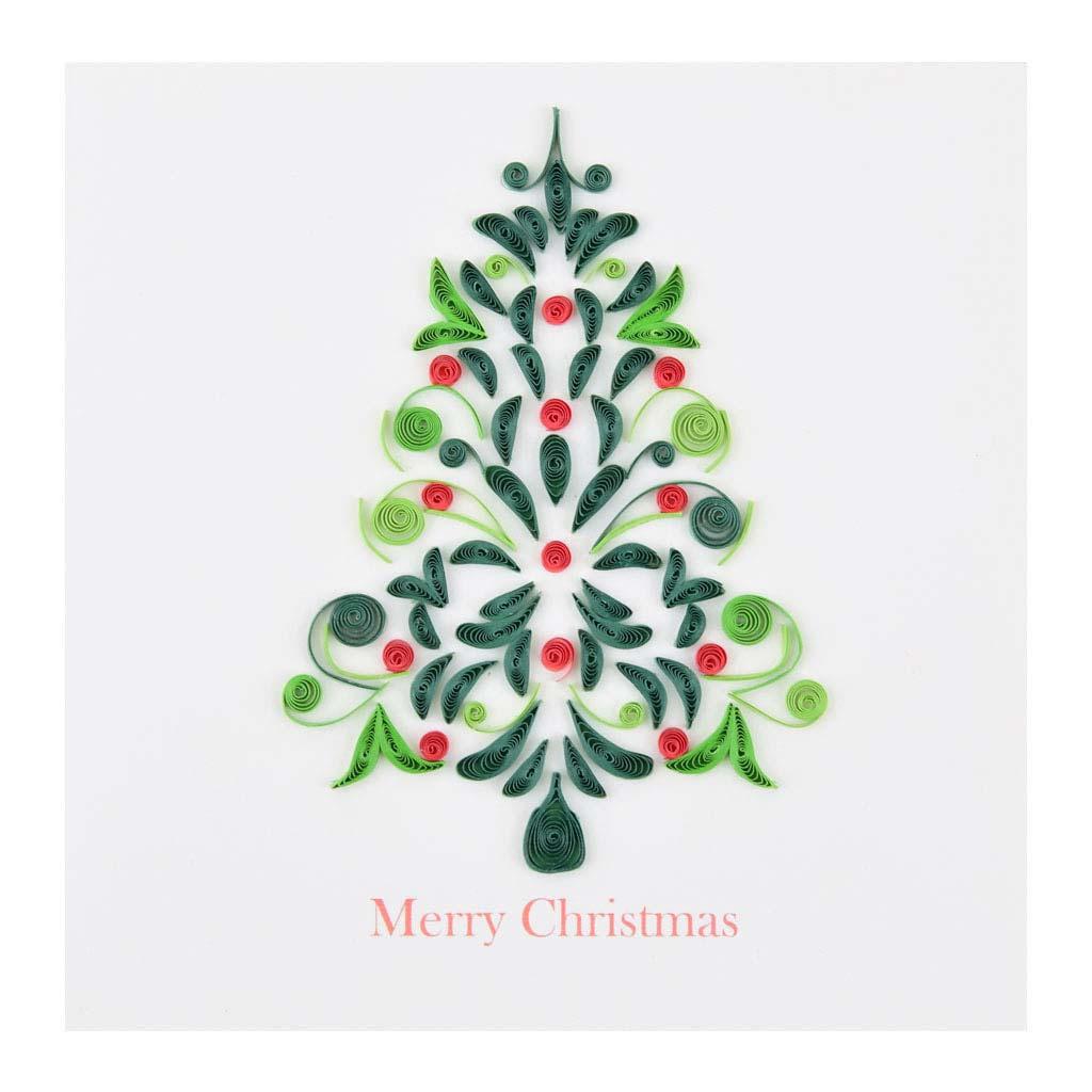 Blahoželanie, vianočné, stromček, ručná výroba, rozmer 15x15 cm