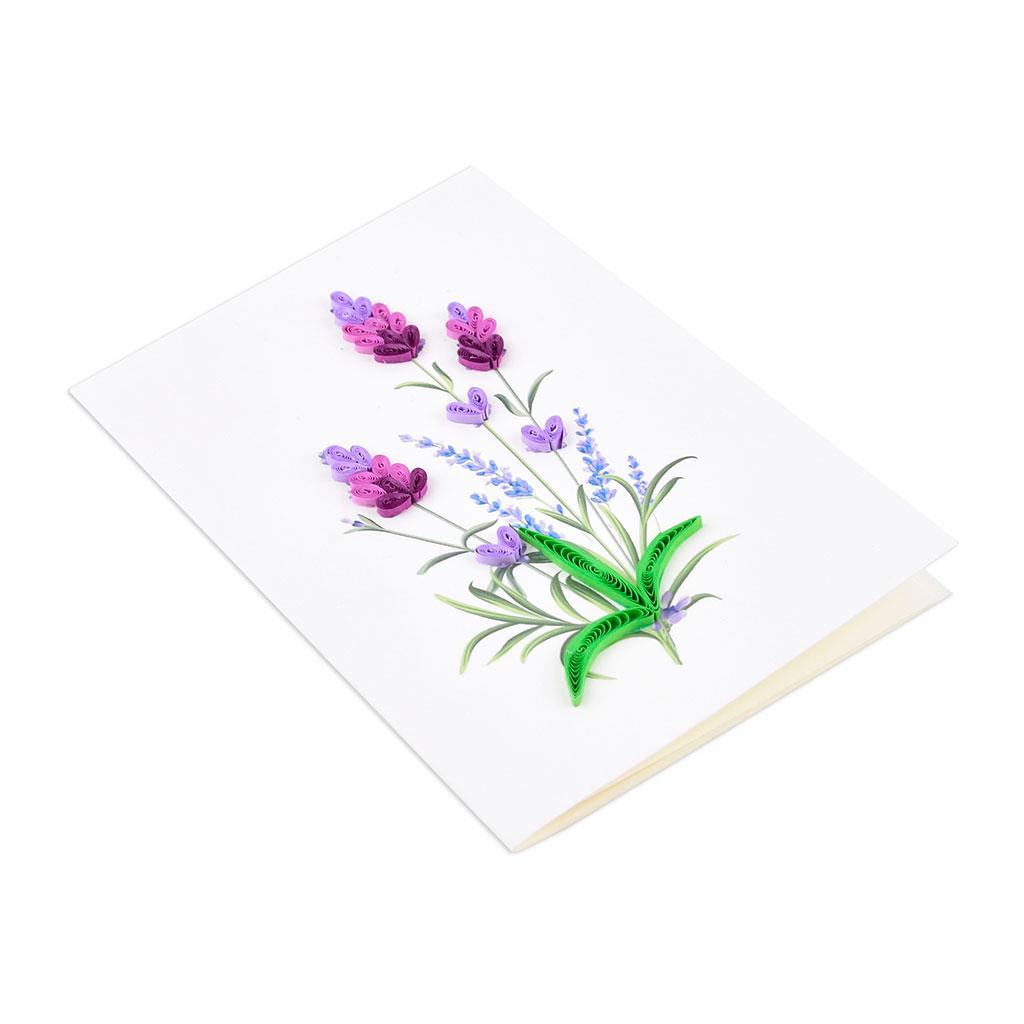 Blahoželanie levanduľa, ručná výroba, rozmer 9x13 cm