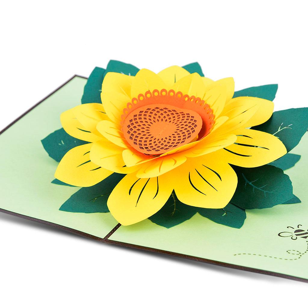 Blahoželanie 3D, slnečnica, ručná výroba