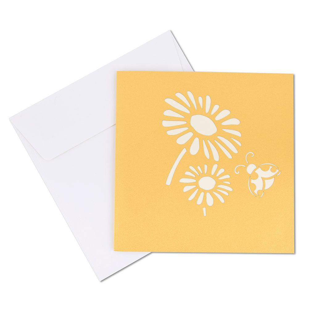Blahoželanie 3D, lúčne kvety, ručná výroba