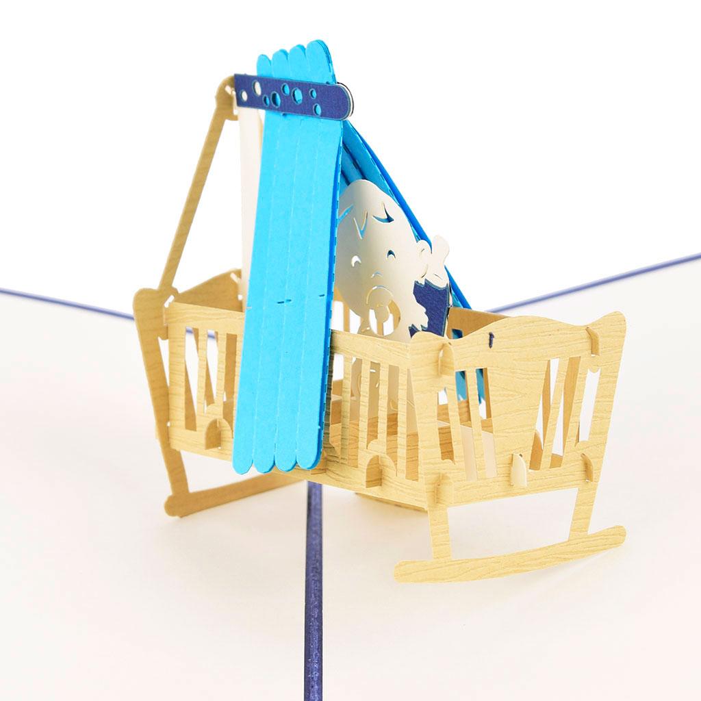 Blahoželanie 3D, narodenie dieťaťa, chlapček, ručná výroba