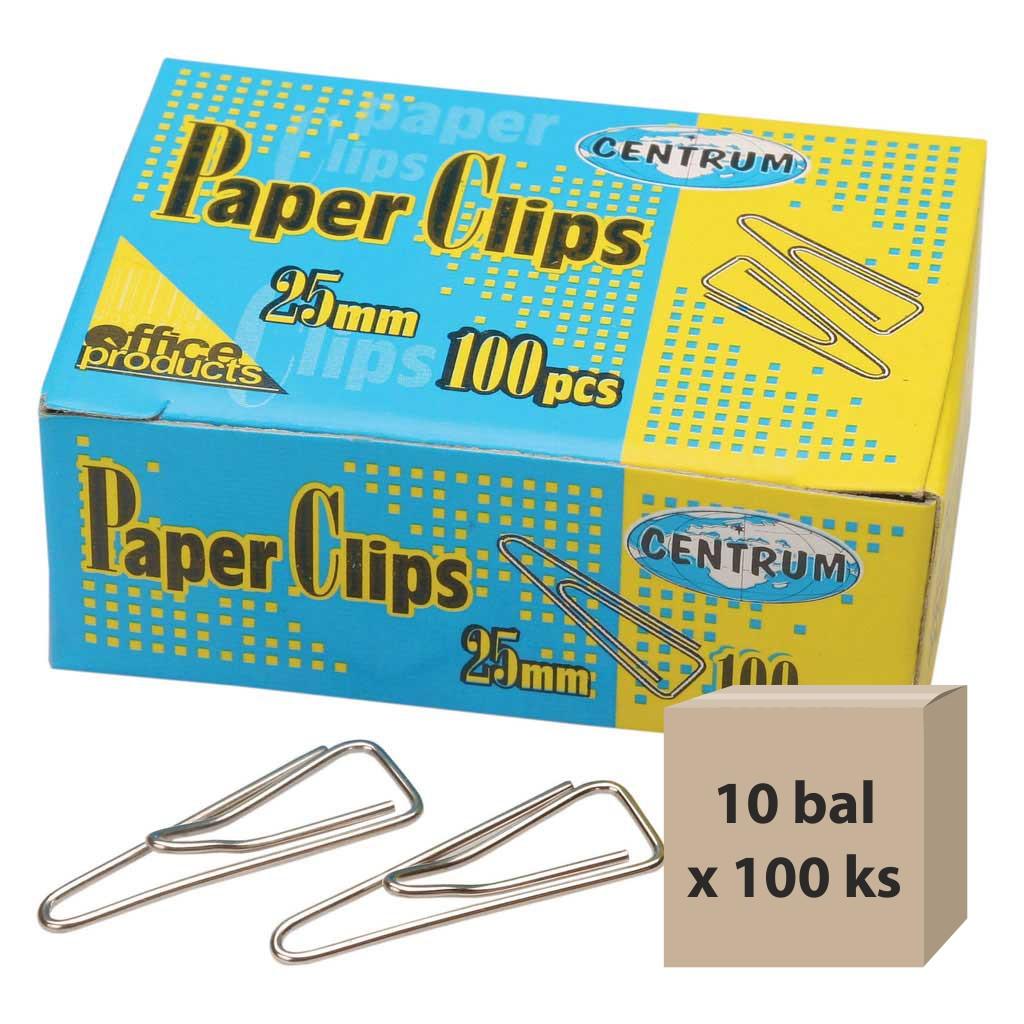 Spony listové 25 mm, 10 bal x 100 ks