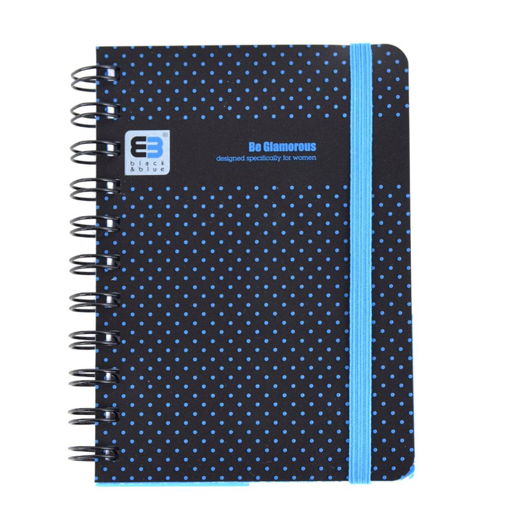 Poznámkový blok A6 so špírálou, Glamour, 100 listový, štvorčekový, mix motívov