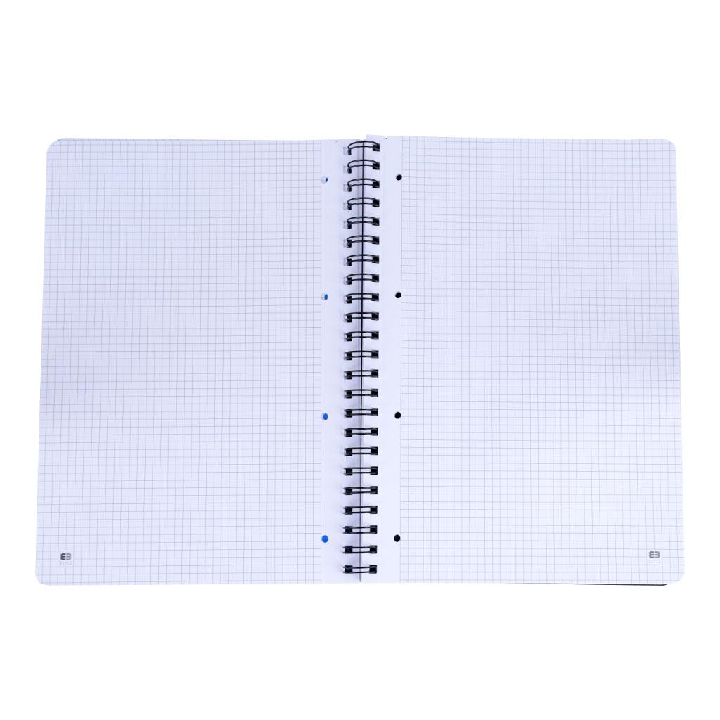 Poznámkový blok A4 so špírálou, 100 listový, 50 l. štvorč., 50 l. linaj.