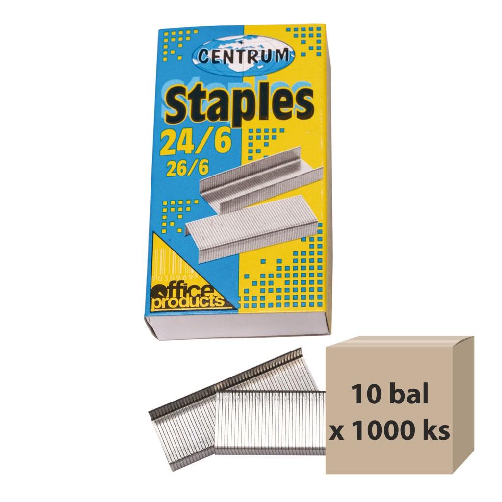 Spony zošívacie 24/6/1000, 10 bal x 1000 ks