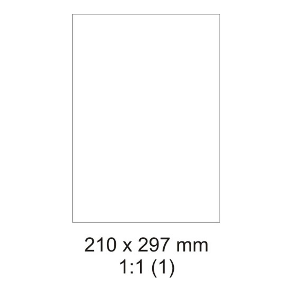 Etikety PRINT biele - 210 x 297 mm - (100 hár)