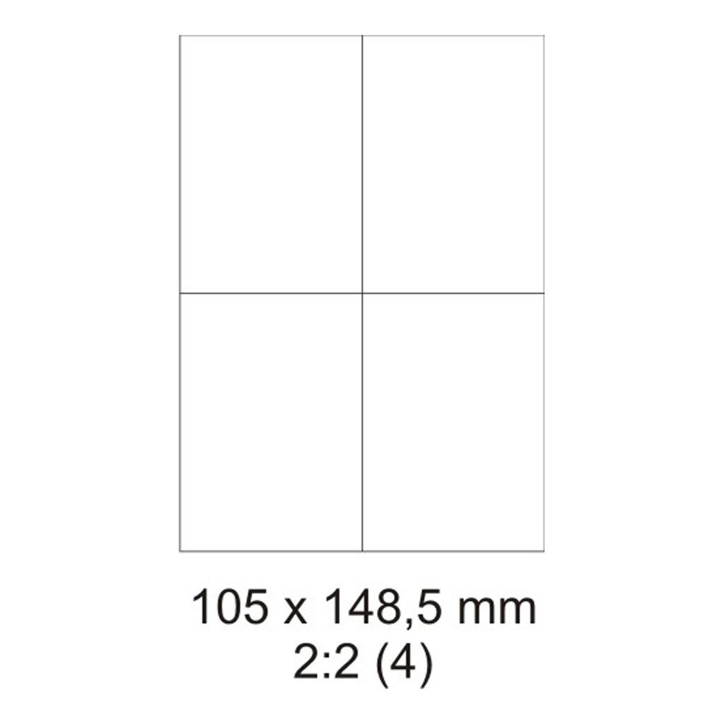 Etikety PRINT biele - 105 x 148 mm - (100 hár)