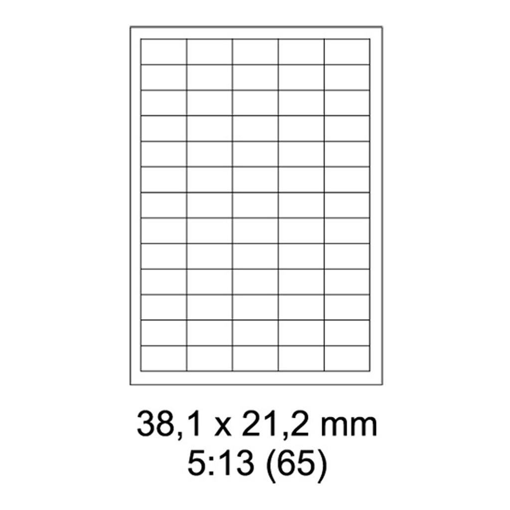 Etikety PRINT biele - 38 x 21,2 mm - (100 hár)