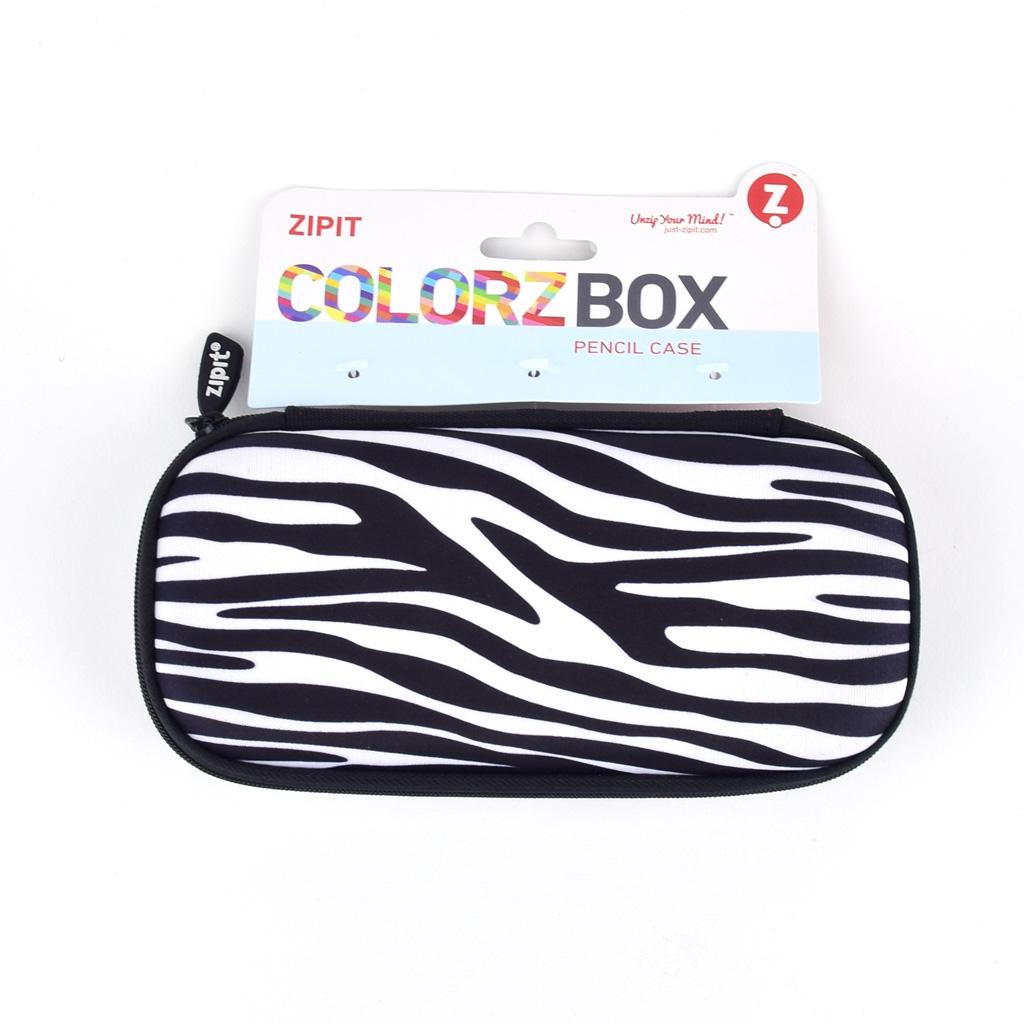 """Peračník 1-zipsový """"Colorz box"""", etue, prázdny, zebrový"""