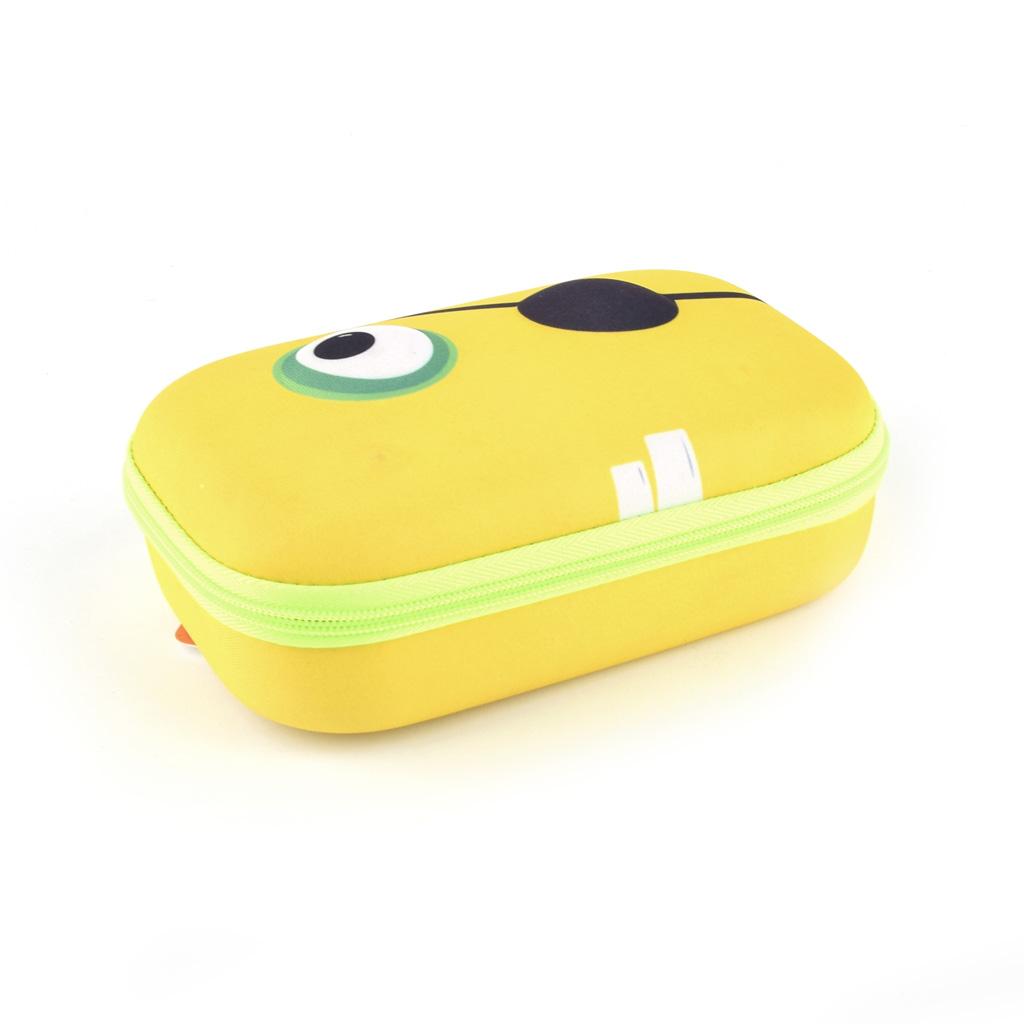 """Peračník 1-zipsový """"Beast box"""", veľké etue, prázdny, žltý"""