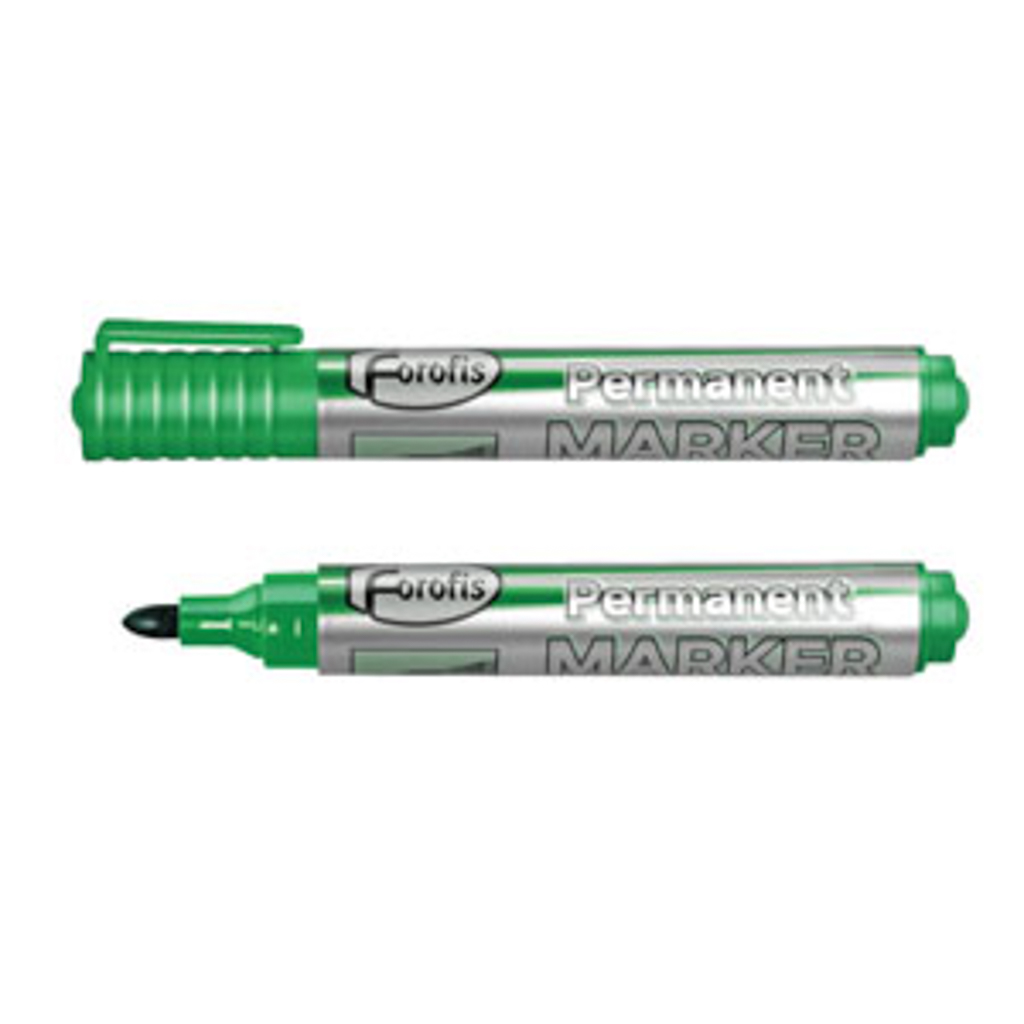Popisovač permanent, okrúhly hrot 2-5 mm, zelený