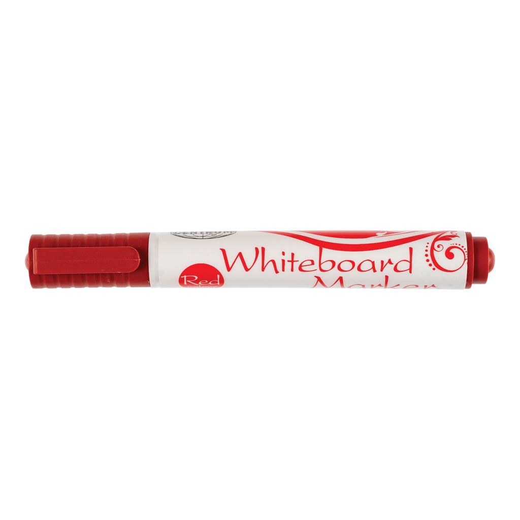 Popisovač na biele tabule, okrúhly hrot 1-4 mm, červený