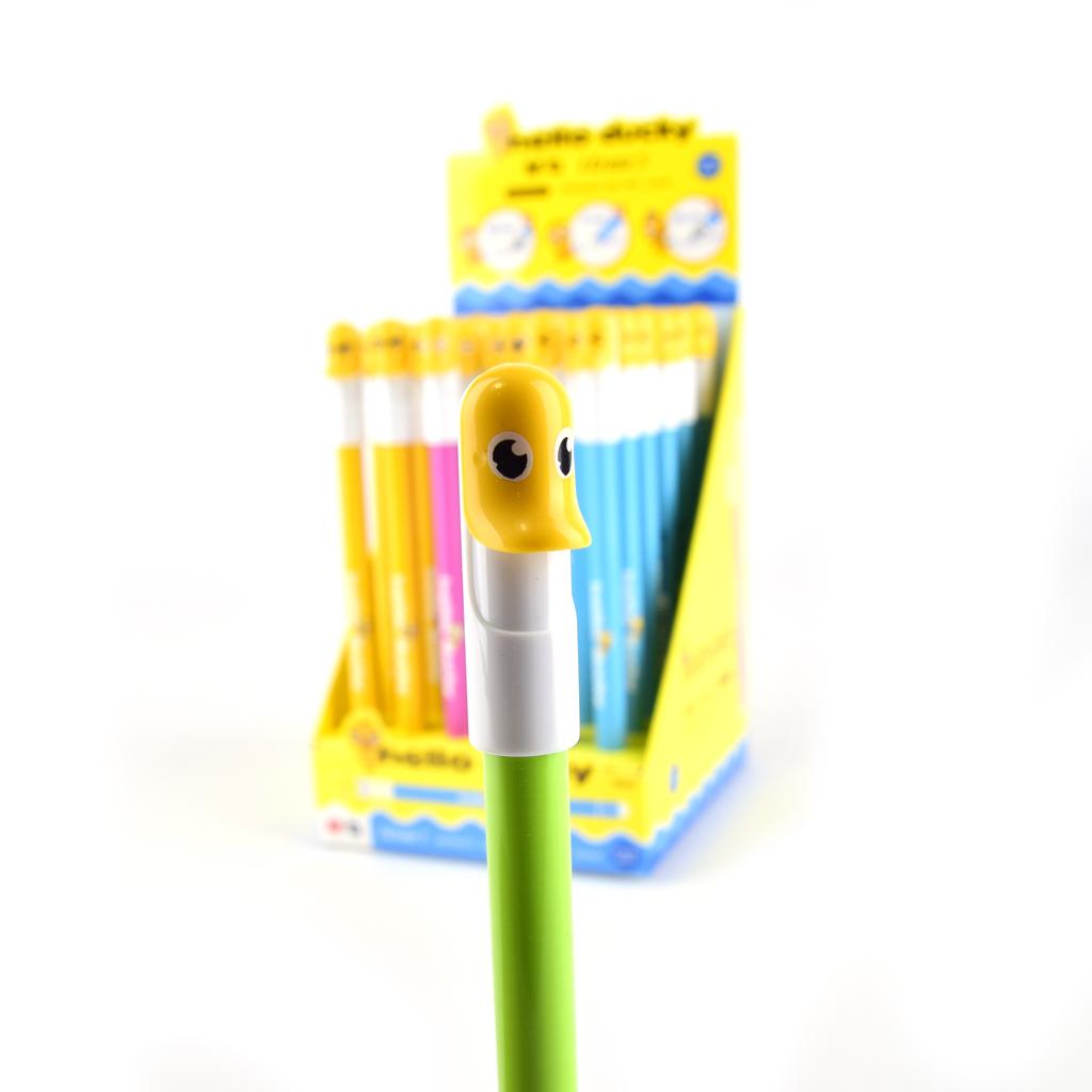 "M&G Pero gumovateľné ""Hello ducky"" 0,5mm, modrá náplň"