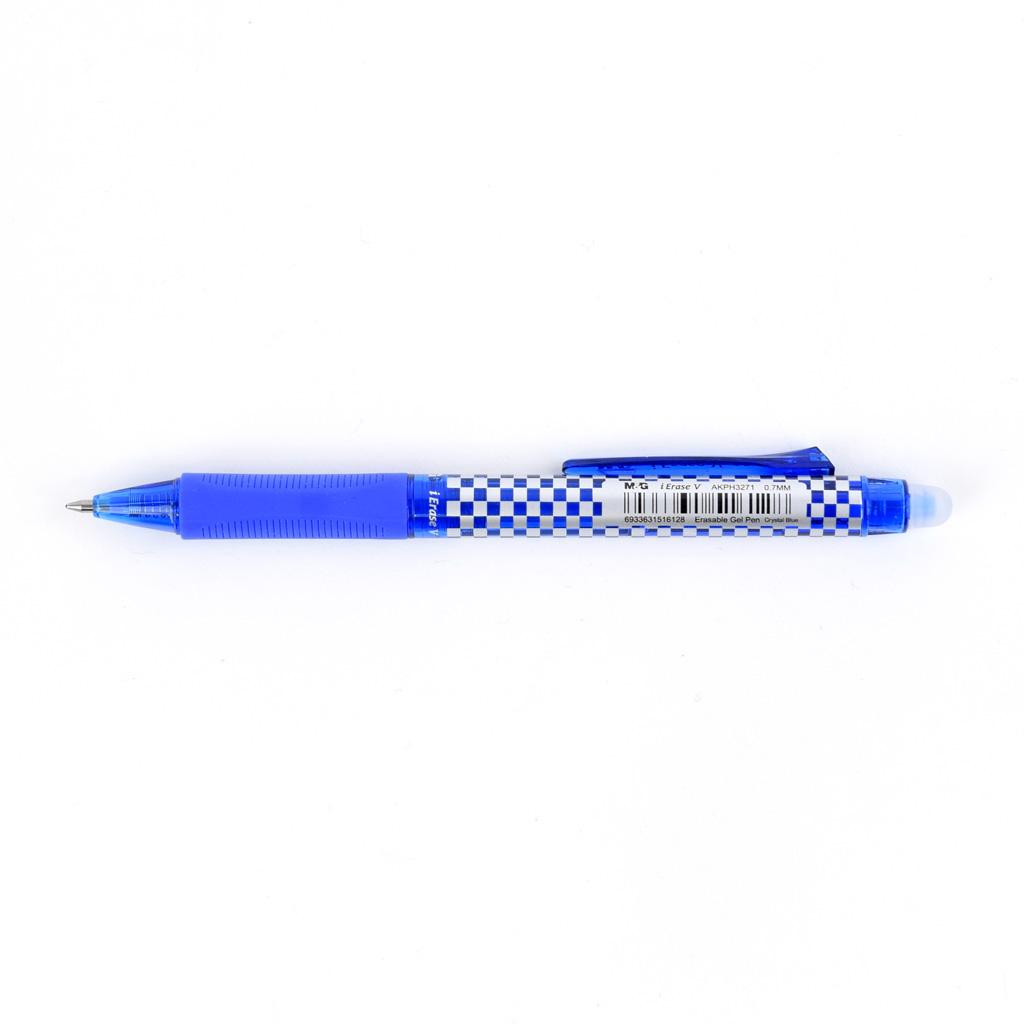 """M&G Pero gumovateľné """"V"""", 0,7 mm, modrá náplň"""