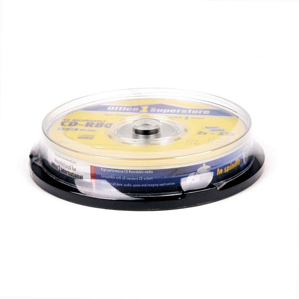 O1S CD-R 80 min 700 MB 52x / 10 ks, cake box