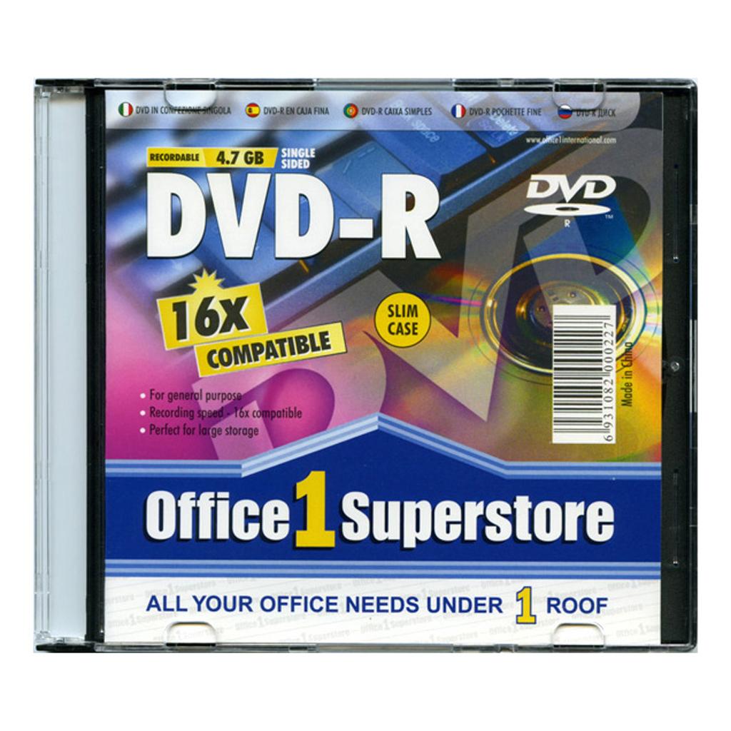 O1S DVD-R 4.7 GB 8-16x, slim box