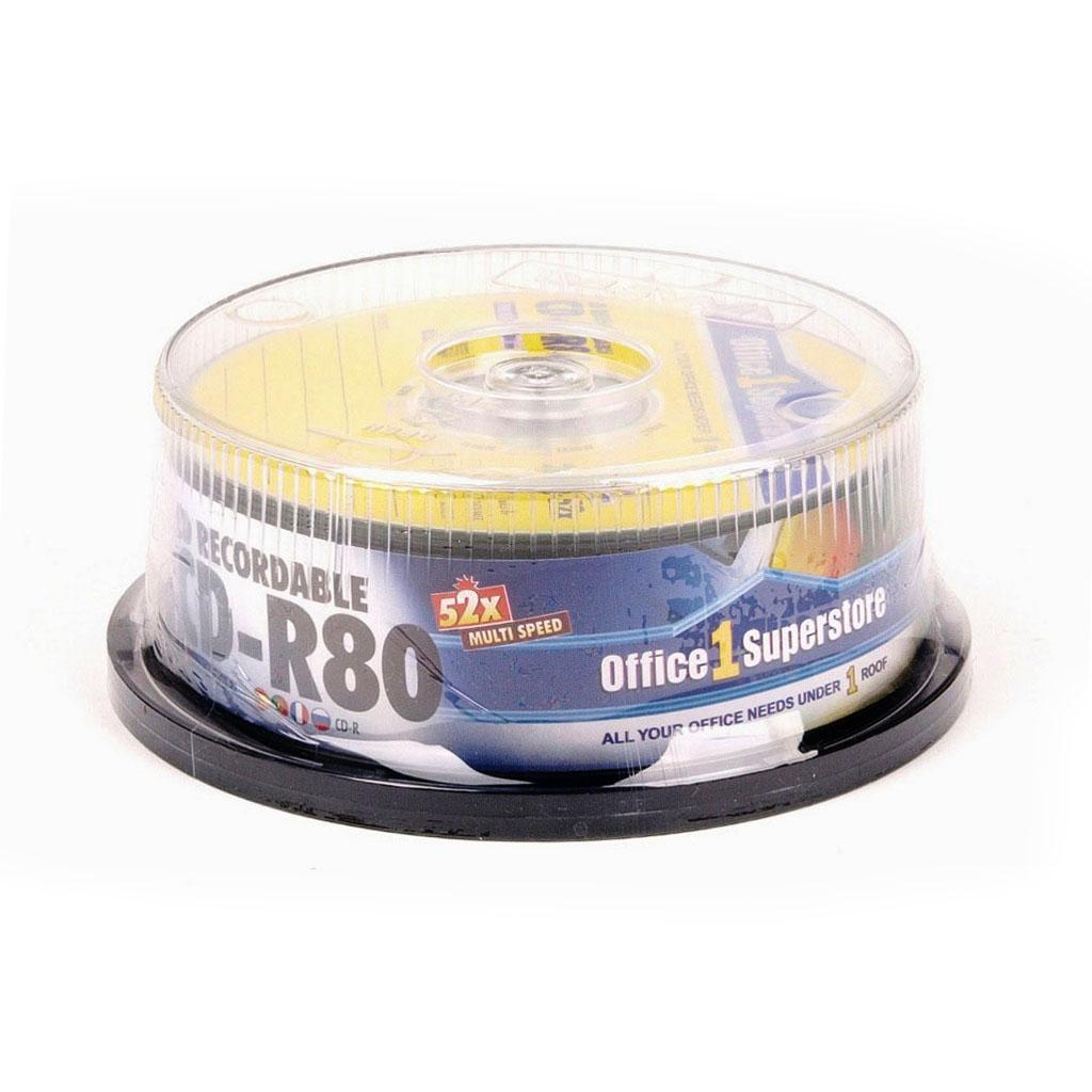 O1S CD-R 700MB SPINDLE 25 PCS