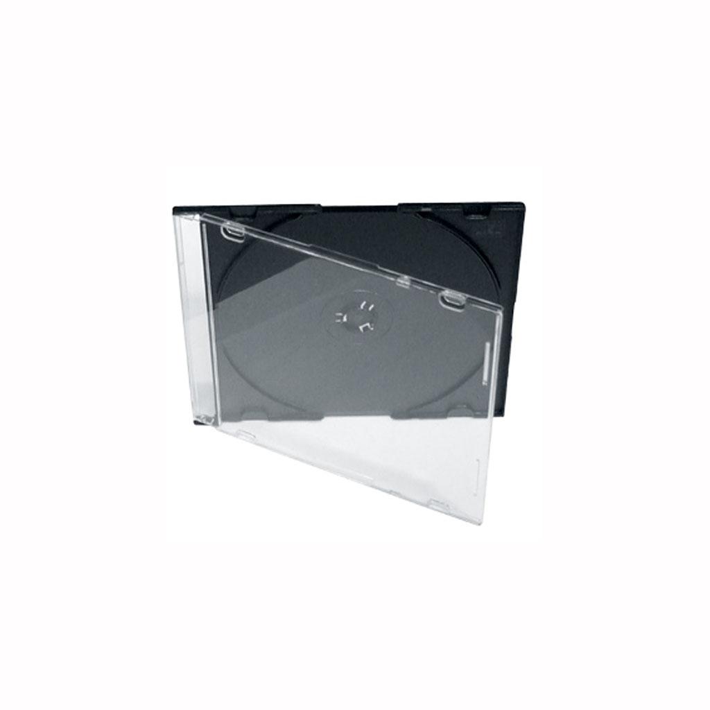 Obal plast. na 1ks CD slim 5,2mm - priehľadný, zadná strana čierna