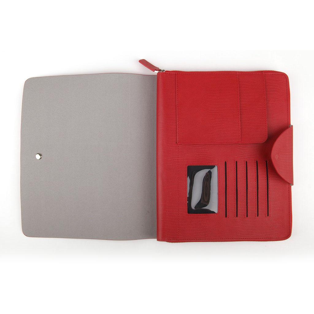 Puzdro na iPAD so stojanom, červené