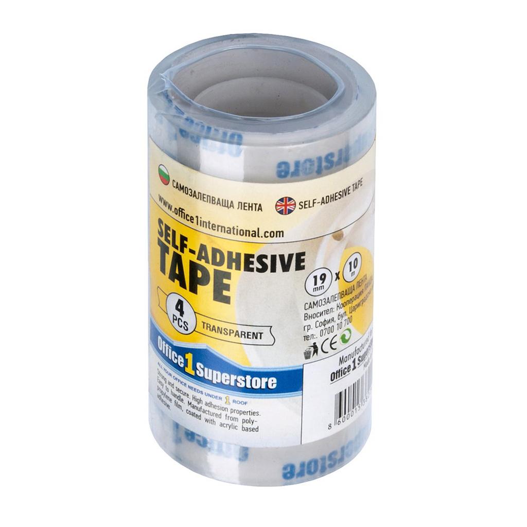 Lepiaca páska 19mmx10m - transparent.  - rol./4 ks