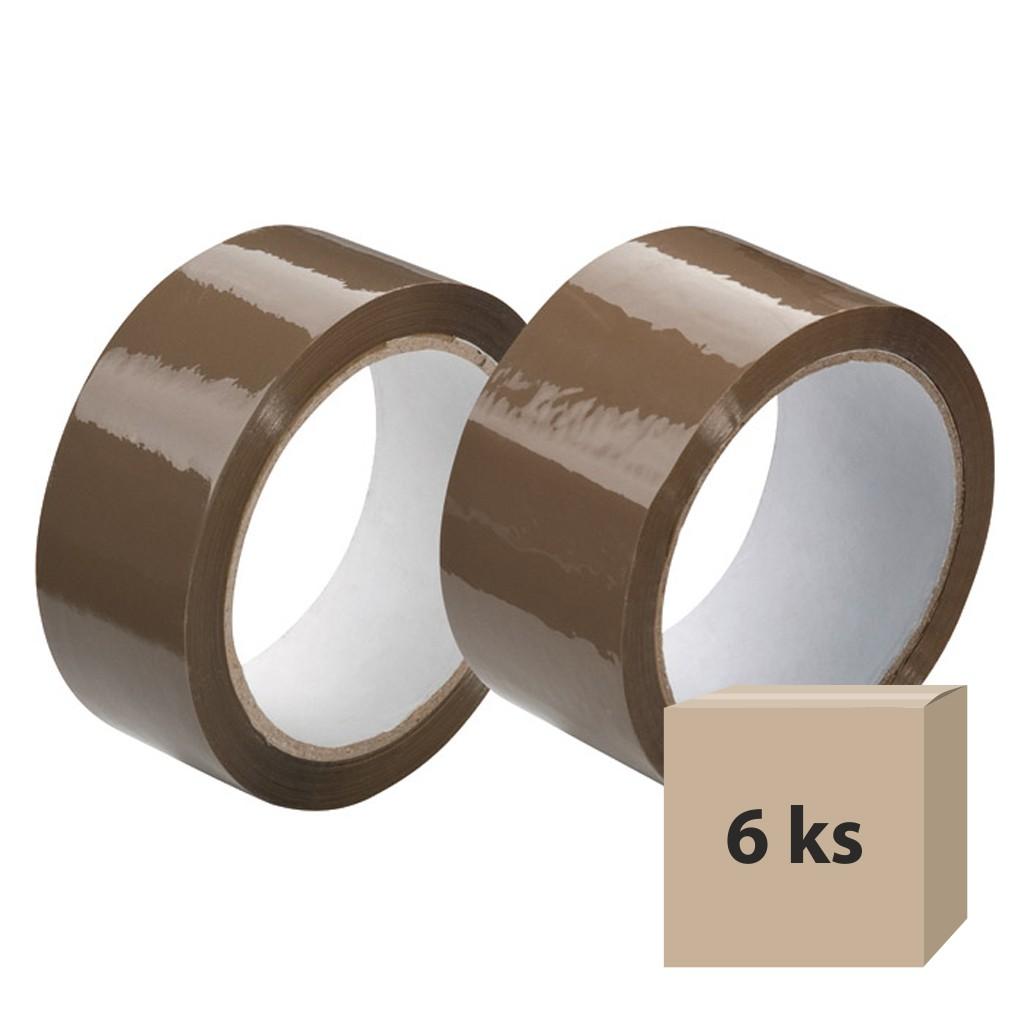 Lepiaca páska 38mm x 66m - hnedá, 6 ks