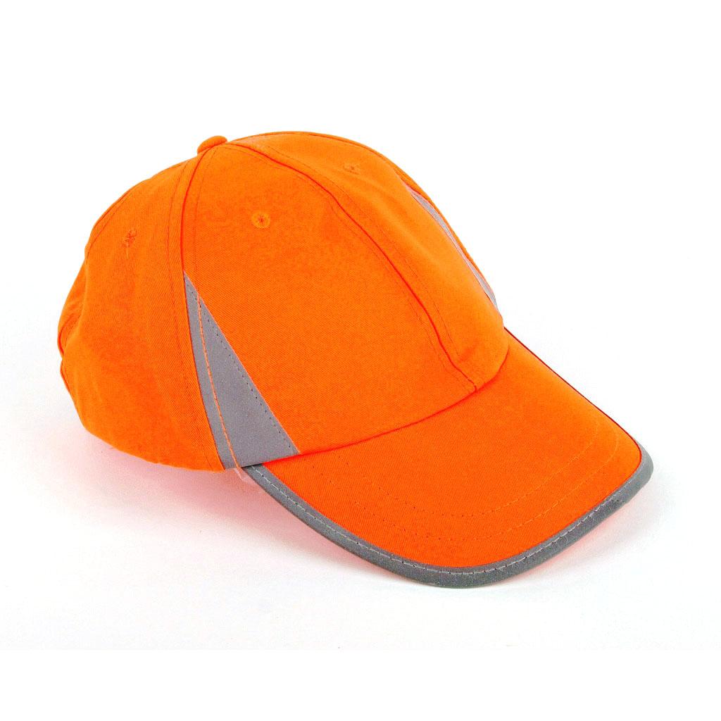 Reflexná čiapka  s reflex. znakom - mix farieb